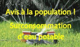 Surconsommation d'eau potable